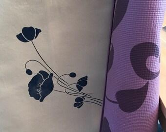 Poppy Yoga Mat Tote - Navy
