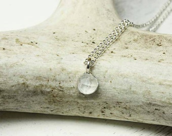 Sterling Silver Herkimer Diamond Pendant - OOAK - Ready to Ship