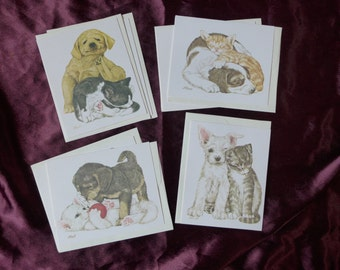 Vintage Pup and Kitten Notecards / Linda Powell / Current