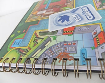 SALE The Simpsons Cluedo journal. The Simpsons Notebook. The Simpsons Notepad. Up-cycled Sketchbook. Eco friendly journal