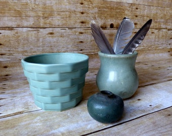 Jade Green Studio Pottery -  Weed Pot - Instant Collection - Planter - Flower Pot - Vase