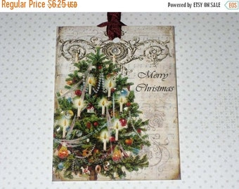 Christmas in July Vintage Gift Tags Christmas Tree ECS
