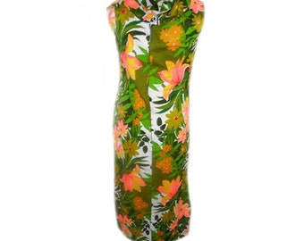 VINTAGE BARKCLOTH DRESS
