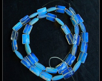 SALE ! Faceted Pendant,Opalite Gemstone Loose Beads,1 Strand,40cm in the Lenght,10x7x3mm,16.6g