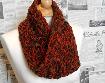 Rescue Scarf - Burnt Orange and Brown