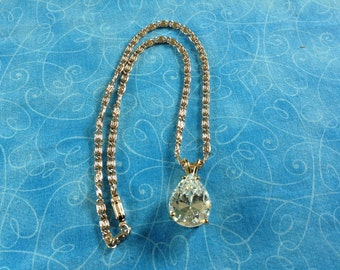 Pear Shaped Pendant Necklace, German necklace, pear pendant necklace