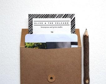 Gift Card, Voucher for Olive & The Volcano Letterpress Paper-Goods 25, 50, 100 Dollars AUD