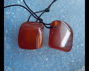 Red Agate Earring Bead,18x13x12mm,9.4g