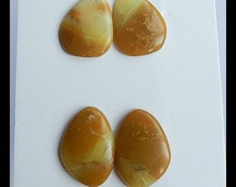 SALE,2 Pairs Yellow Opal Cabochon,5.3g