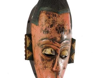 Guro Mask Pink Face Animal Decorations Ivory Coast African Art 103681