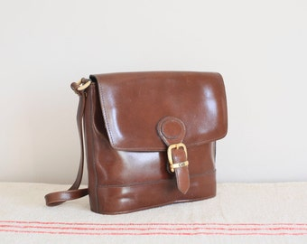 Vintage brown leather Celli shoulder cross body bag by Clarks