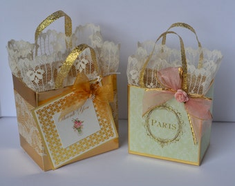 Paris Pink and gold favor bags customized for your event!