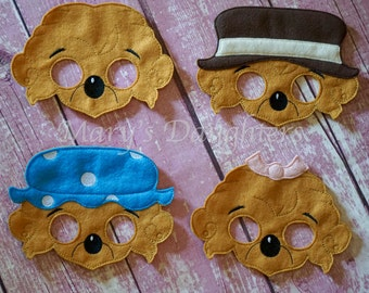 Berenstain Bear Masks