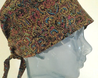 Bright paisley cap