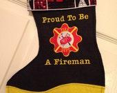 Firefighter, EMT or Medic personalized stocking or gift bag