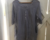 R E S E R V E D   Pretty vintage super soft cotton pinstriped tunic dress xs/s