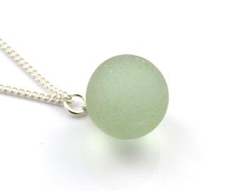 Sea Glass Vintage Marble Necklace Pendant Beach Glass Jewelry Sea Glass Jewellery Sea Glass Jewelry Sterling Silver The Strandline