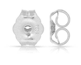 Ear Nuts Sterling Silver Heavy Earring Backs 4.7x5.4mm - 50prs (6362)/5