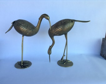 Pair of Mid-Century Modern Brass Birds