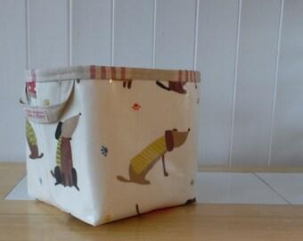 Dachshund saucisson print Large Storage Basket Bin