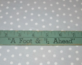 Vintage GREEN Ruler 18 inch Advertising Dunn-Rite Shoes Foot and 1/2 Office Supplies Collection