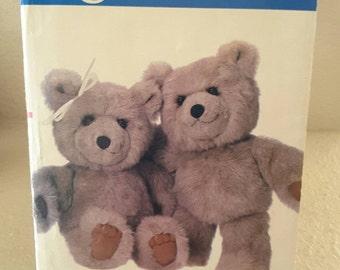 "1986 Vogue Crafts Pattern #621 Fur Pile Stuffed Bear Approximately 15"" Uncut"