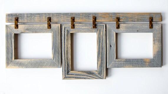 2 Quot Barnwood Collage Frame 3 8x10 Multi Opening Frame