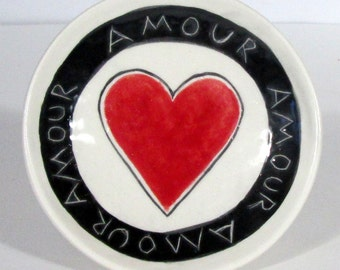 Valentine Gift Heart handmade  Wall decor  Ring dish  Ready to ship