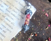 Rose Petal necklace wicca wiccan witchcraft jewelry pagan magick herbs new age metaphysics occult witchy jewelry