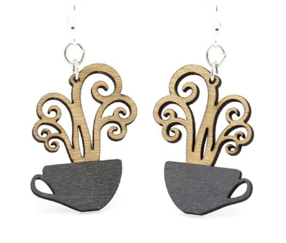 Cup of Coffee Earrings