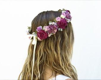 Lavender Flower Crown, Purple, Bridal Floral Crown, Circlet, Floral Crown, Renaissance, Fairy Crown, Fairie, Fae, Maternity, Headpiece, Boho