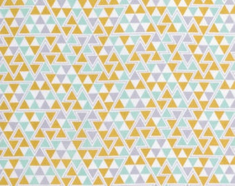 "1 Yard 5"" of Wander Triangles Maize by Joel Dewberry for FreeSpirit LAST PIECE"