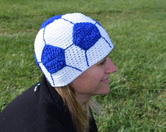 soccer hat//blue//women//teenager//10 year old//22 inches