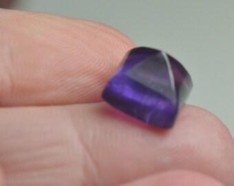 One 10mm square Amethyst Deep purple Sugar loaf faceted gemstone 10mm by 8.5mm deep untreated
