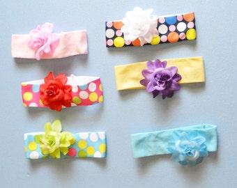 PICK a COLOR Headband, Stretchy, Flower Hair Clips, Girl Hair Accessory, Gift ideas