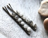 Tourmaline quartz bobby pins | Gemstone bobby pins | Wire wrapped | Hair accessory | Fashion | Hair pins