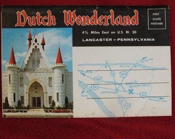 Vintage Souvenir Folder of Dutch Wonderland  in Lancaster PA