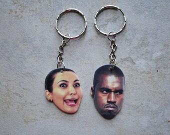Kim and Kanye Keychain Set