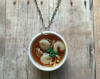 Shrimp pho necklace