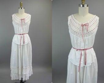 1900s Antique Cotton Day Dress