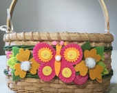 SALE - Save 20% now!  Handmade Small Dream Basket with Butterfly