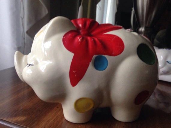 Vintage Piggy Bank Ceramic Bank Pig Collectible Gift For