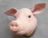 ON SALE Supercute MINIATURE Piggy Head- ready to ship