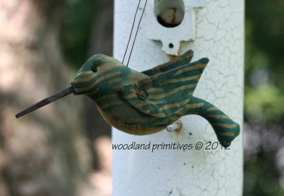 Handmade Hummingbird Ornament