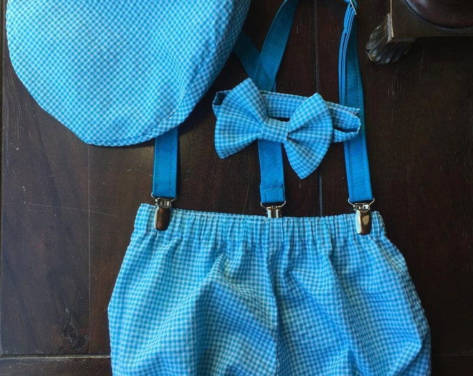 Boys Smash Cake Outfit, Birthday Boy Outfit,  Bow tie, Suspenders, and Diaper Cover made by TwoLCreations