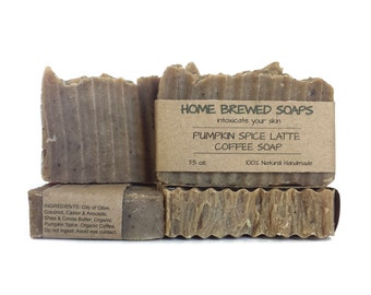 Pumpkin Spice Coffee Soap, Pumpkin Spice Soap, Coffee Soap, Pumpkin Coffee Soap, Coffee Lover Gift, Coffee Lover Soap, Pumpkin Soap