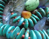 Huge Royston Turquoise Native American Choker Necklace