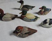 Avon Mini Duck Decoy Collection Set of 6 / Avon Collection Duck Series 1984 / Vintage Duck Decoys by Avon / Father's Day Gift