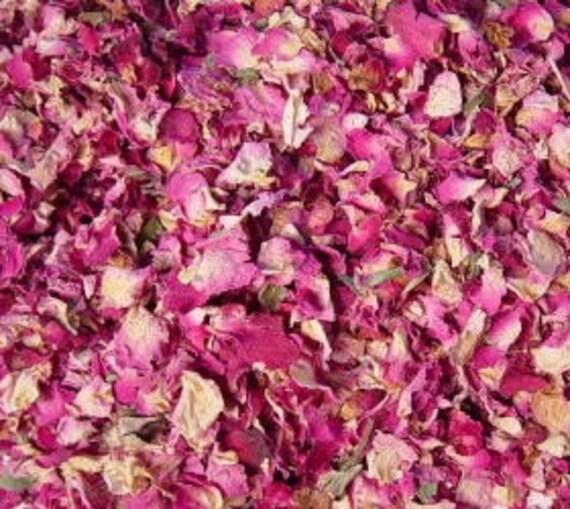 1/2lb Dried ROSES Petal & Buds, Biodegradable 100% Natural Untreated Ecofriendly Bulk Flower 8oz, 227g