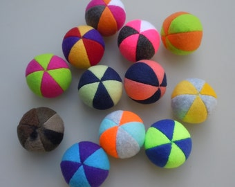 MADE TO ORDER Bulk Cat Toys One Dozen Catnip Fleece Balls